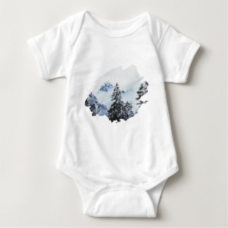 Misty peak Watercolor Baby Bodysuit