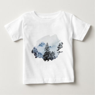 Misty peak Watercolor Baby T-Shirt