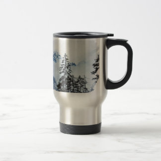 Misty peak Watercolor Travel Mug