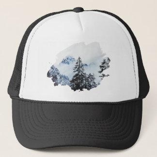Misty peak Watercolor Trucker Hat