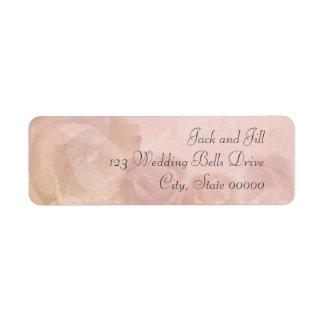 Misty Rose Pink Return Address Labels Wedding