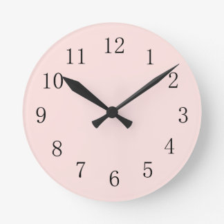 Misty Rose Pink Round (Medium) Wall Clock