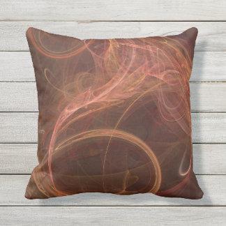 Misty Rust Throw Pillow