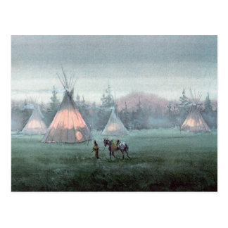MISTY TIPI by SHARON SHARPE Postcard