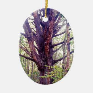 Misty Tree Ceramic Ornament