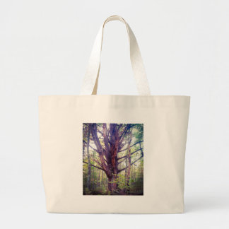 Misty Tree Large Tote Bag