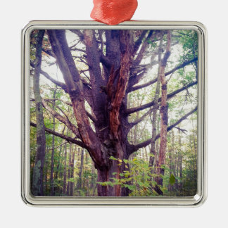 Misty Tree Metal Ornament
