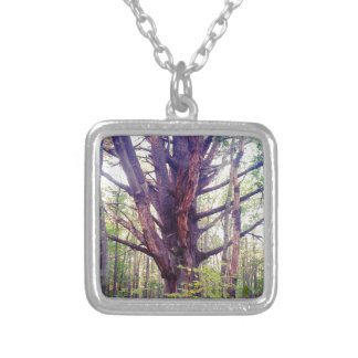 Misty Tree Silver Plated Necklace