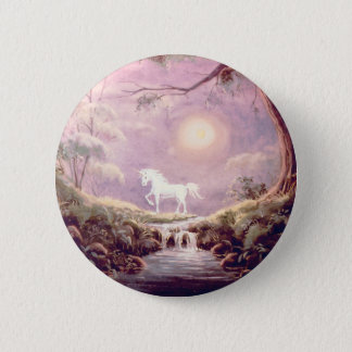 MISTY UNICORN  by SHARON SHARPE 6 Cm Round Badge