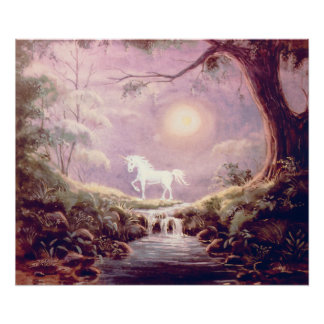 MISTY UNICORN by SHARON SHARPE Poster