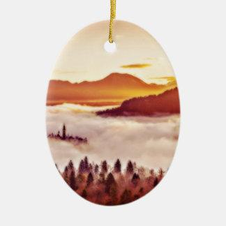 Misty Valley Ceramic Ornament