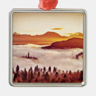 Misty Valley Metal Ornament