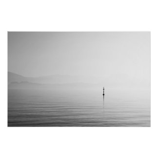 Misty views of Lake Garda Poster