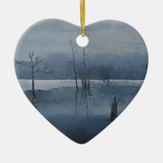Misty water ceramic ornament