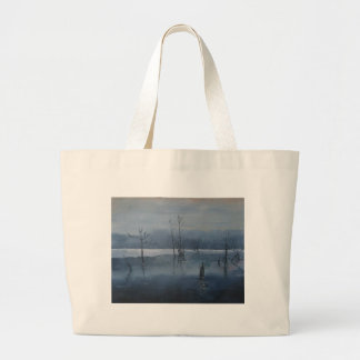 Misty water large tote bag