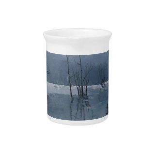 Misty water pitcher
