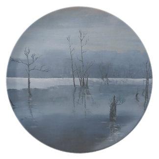 Misty water plate