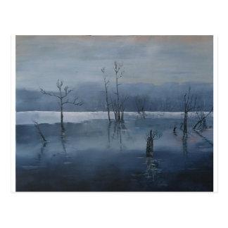 Misty water postcard