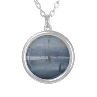 Misty water silver plated necklace