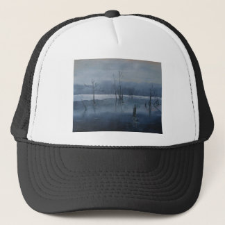 Misty water trucker hat