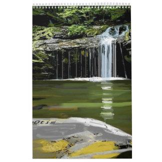 Misty Waterfalls Calendar