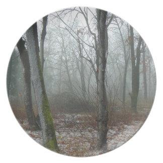 Misty Wood Dinner Plate