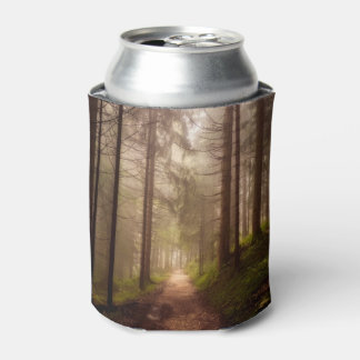 Misty Woodland Path Can Cooler