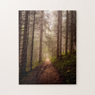 Misty Woodland Path Jigsaw Puzzle