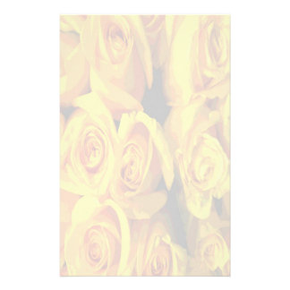 Misty Yellow Roses Stationery Design