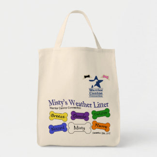 Misty's Litter - grocery tote