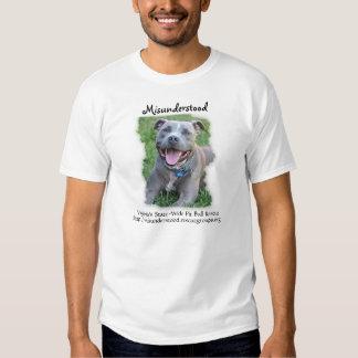 Misunderstood Pit Bull Rescue T Shirts