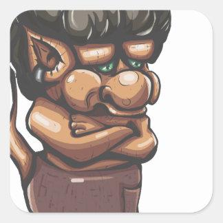 Misunderstood Troll Square Sticker