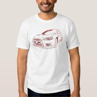 Mit Lancer Evo X 2008 Tshirts