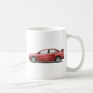 Mit Lancer Evo X cracked Coffee Mug