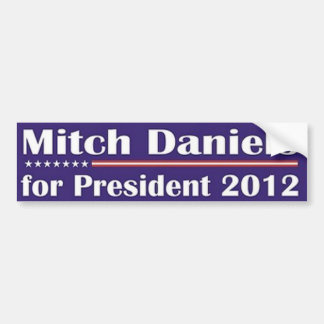 MITCH DANIELS FOR PRESIDENT BUMPER STICKER