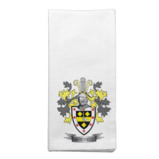Mitchell Family Crest Coat of Arms Napkin