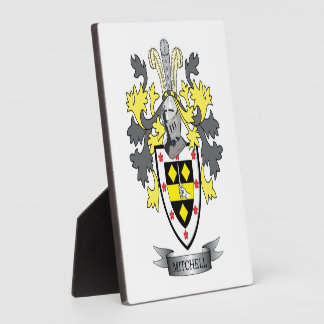 Mitchell Family Crest Coat of Arms Plaque