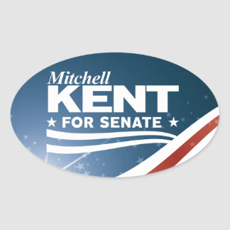 Mitchell Kent for Senate Oval Sticker