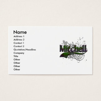 Mitchell Tartan Grunge Business Card