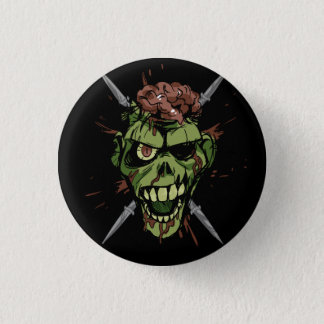 mitch's zombie graphic 3 cm round badge