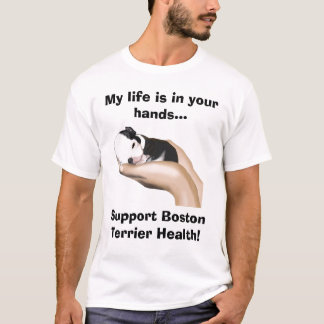 Miter Supports Boston Terrier Health T-Shirt