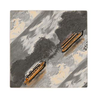 Mitercraft Wooden Coaster, With Boats Design Wood Coaster