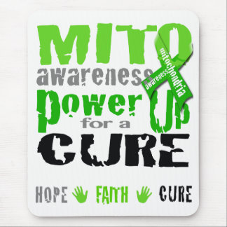 Mito Awareness Power Up for a Cure Mouse Pad