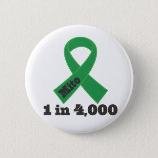 Mito Green Ribbon Awareness 1 in 4000 6 Cm Round Badge
