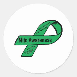 Mito ribbon classic round sticker