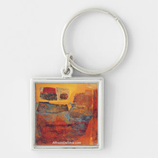 Mitoformas Buenos Aires 25x17.5 Silver-Colored Square Key Ring