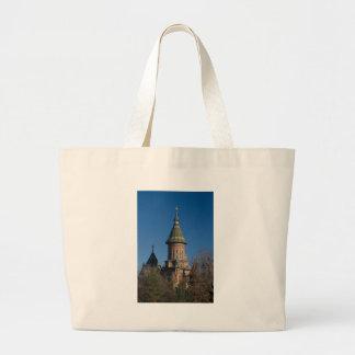 Mitropolitan Cathedral, Timisoara, Romania Large Tote Bag