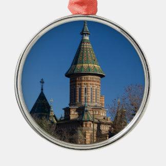 Mitropolitan Cathedral, Timisoara, Romania Silver-Colored Round Decoration