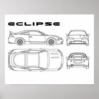 mitsubishi eclipse  poster
