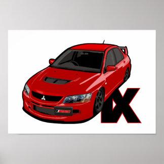 Mitsubishi EVO IX MR Poster